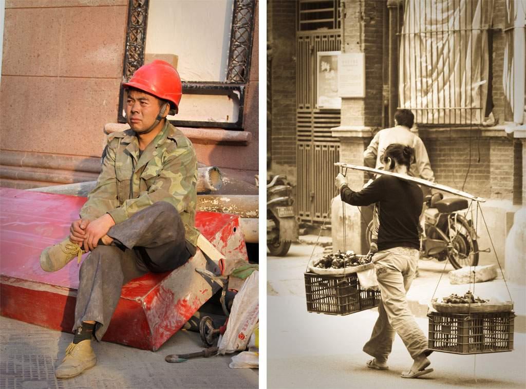 Arbeitende Menschen in Shanghai 2009, (c) Markus Holzhaeuser
