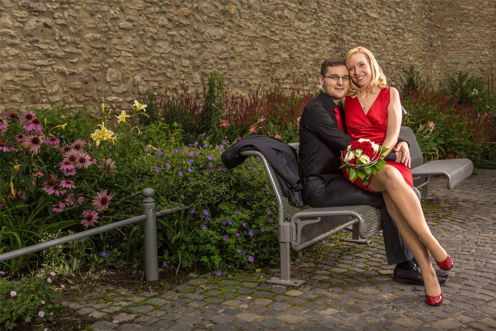 Hochzeitsshooting an der Burgkirche Ingelheim 2013, (c) Markus Holzhäuser