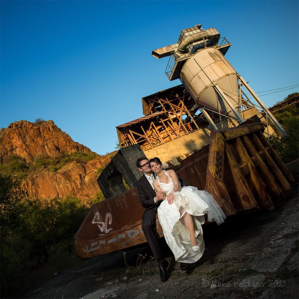Hochzeitsshooting mit Ramona & Thomas, Alter Steinbruch Kirn 2013, (c) Markus Holzhäuser